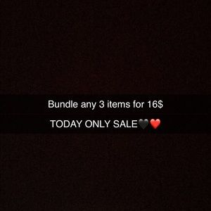Any 3 items for 16$ today only